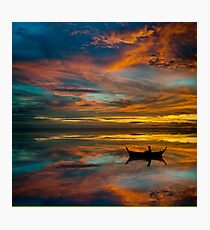 Sunset in Thailand Photographic Print