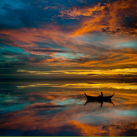 Sunset in Thailand by Laurent Hunziker