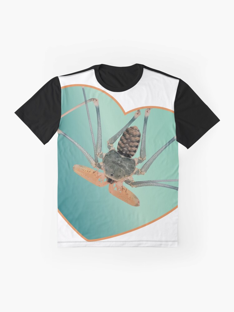 Alternate view of Amblypygi love - Acanthophrynus coronatus Graphic T-Shirt