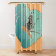 Amblypygi love - Acanthophrynus coronatus Shower Curtain
