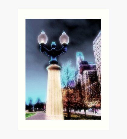 city lights, chicago Art Print