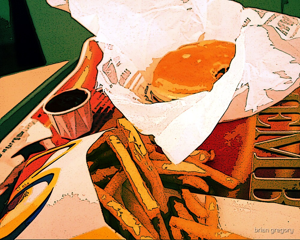 mcdonald's burger and fries by brian gregory