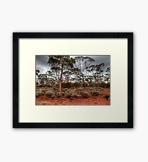 Red Earth, Gray Clouds Framed Print