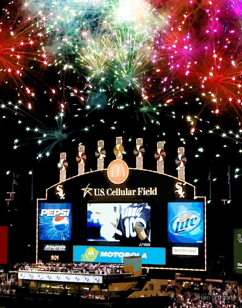 chicago white sox home run fireworks by brian gregory