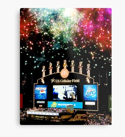 chicago white sox home run fireworks Metal Print