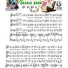 """Brahms Music Sheet Wiegenlied """"Cradle Song"""" Lullaby Baby Shower Zebra by AnimalComposers"""