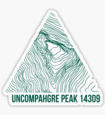 Uncompahgre Peak Topo Sticker
