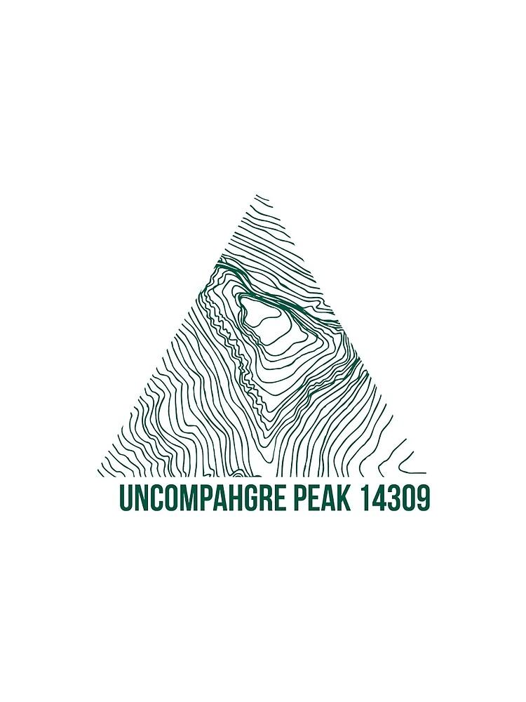 Uncompahgre Peak Topo von januarybegan