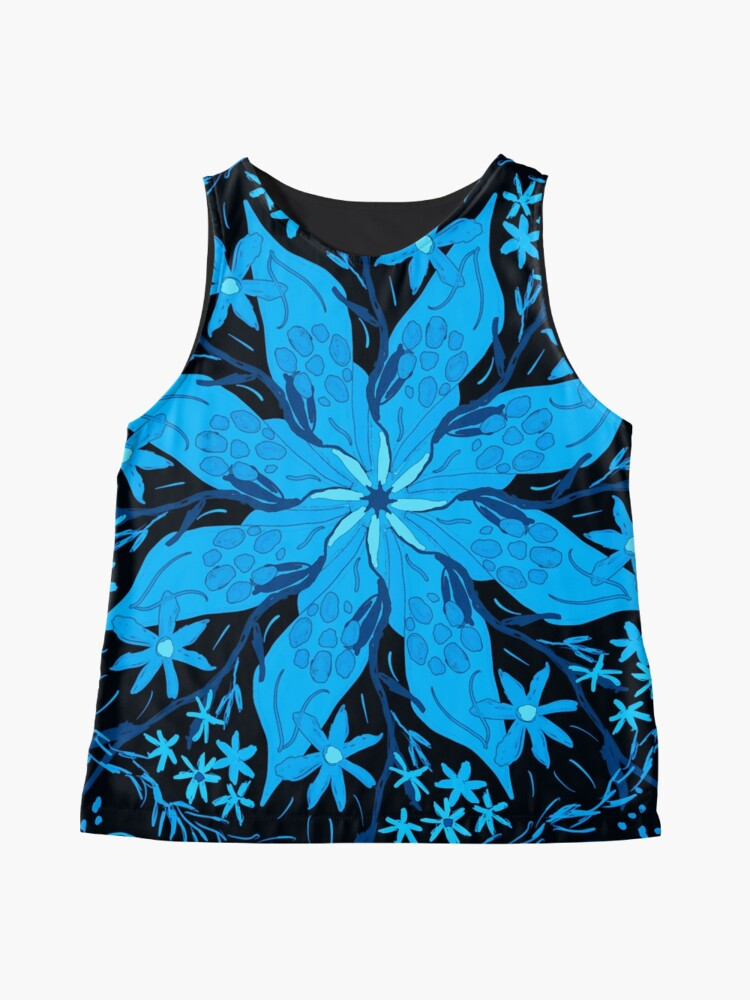 Alternate view of Blue Flowers Sleeveless Top
