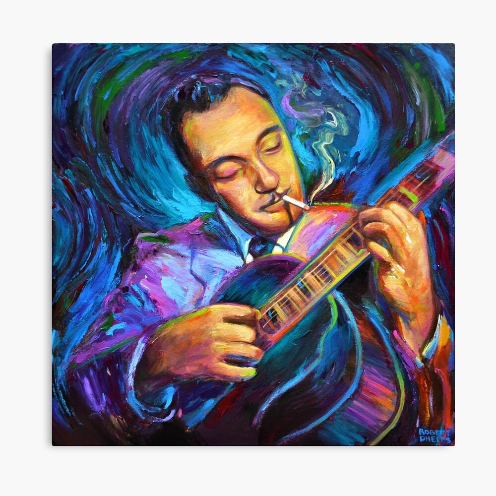 Django Reinhardt Gypsy Jazz Guitarist de Robert Phelps Lienzo