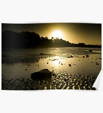The sun goes down on Hervey Bay Poster