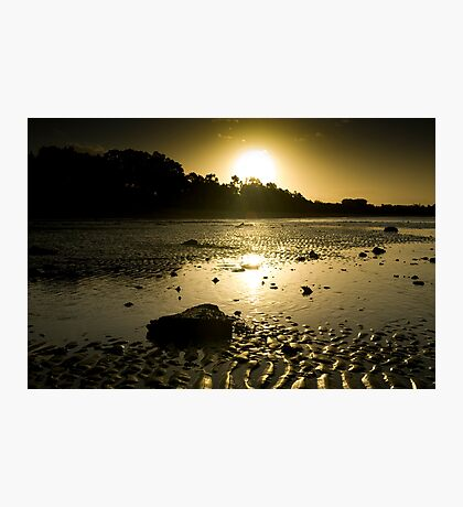 The sun goes down on Hervey Bay Photographic Print