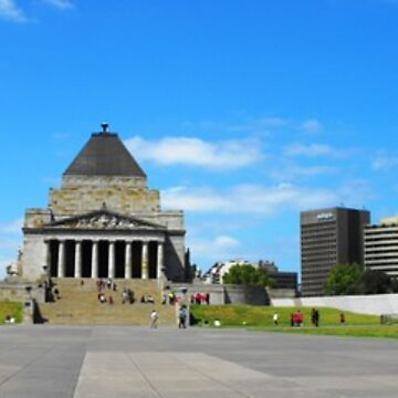 Melbourne Shrine of Remembrance Panorama by AlexJeffery