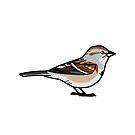 American Tree Sparrow by KeesKiwi