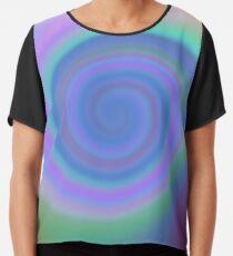 #Spiral, #abstract, #design, #vortex, bright, rainbow, psychedelic, art, futuristic, spectrum Chiffon Top