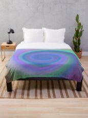 #Spiral, #abstract, #design, #vortex, bright, rainbow, psychedelic, art, futuristic, spectrum Throw Blanket