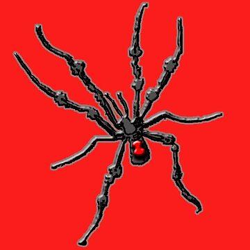 Big Creepy Black Widow Spider by Greenbaby