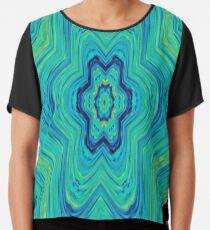 #Abstract, #pattern, #art, #design, kaleidoscope, psychedelic, decoration, shape, illustration Chiffon Top