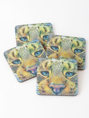 #DeepDreamed Cat v1449127170 Coasters