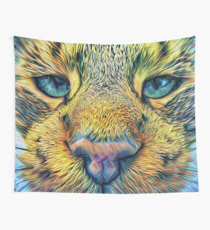 #DeepDreamed Cat v1449127170 Wall Tapestry