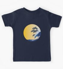 The Wave and Dolphins Kids Tee