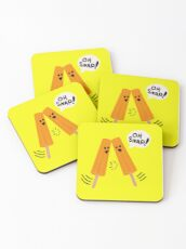 Oh Snap! (Popsicles Split Up) Coasters