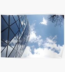 Glass and Sky Poster