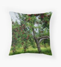 Heavy with Fruit Throw Pillow
