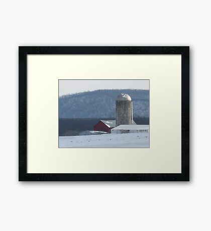 cold winter day in the country Framed Print