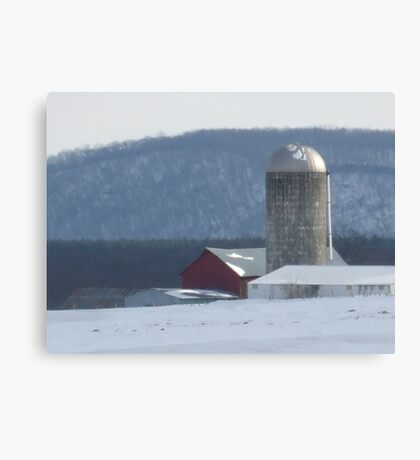 cold winter day in the country Canvas Print