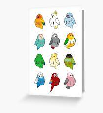 Vögel einer Feder Grußkarte