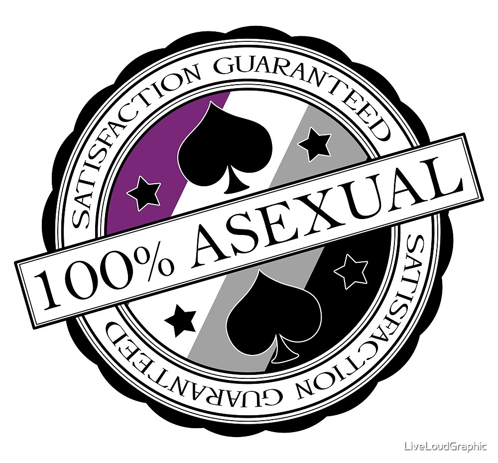100% Asexual - Satisfaction Guaranteed by LiveLoudGraphic