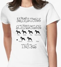 Miniature Schnauzer Tricks Women's Fitted T-Shirt