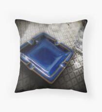 Blue Ashtray - Shenzhen, China Throw Pillow