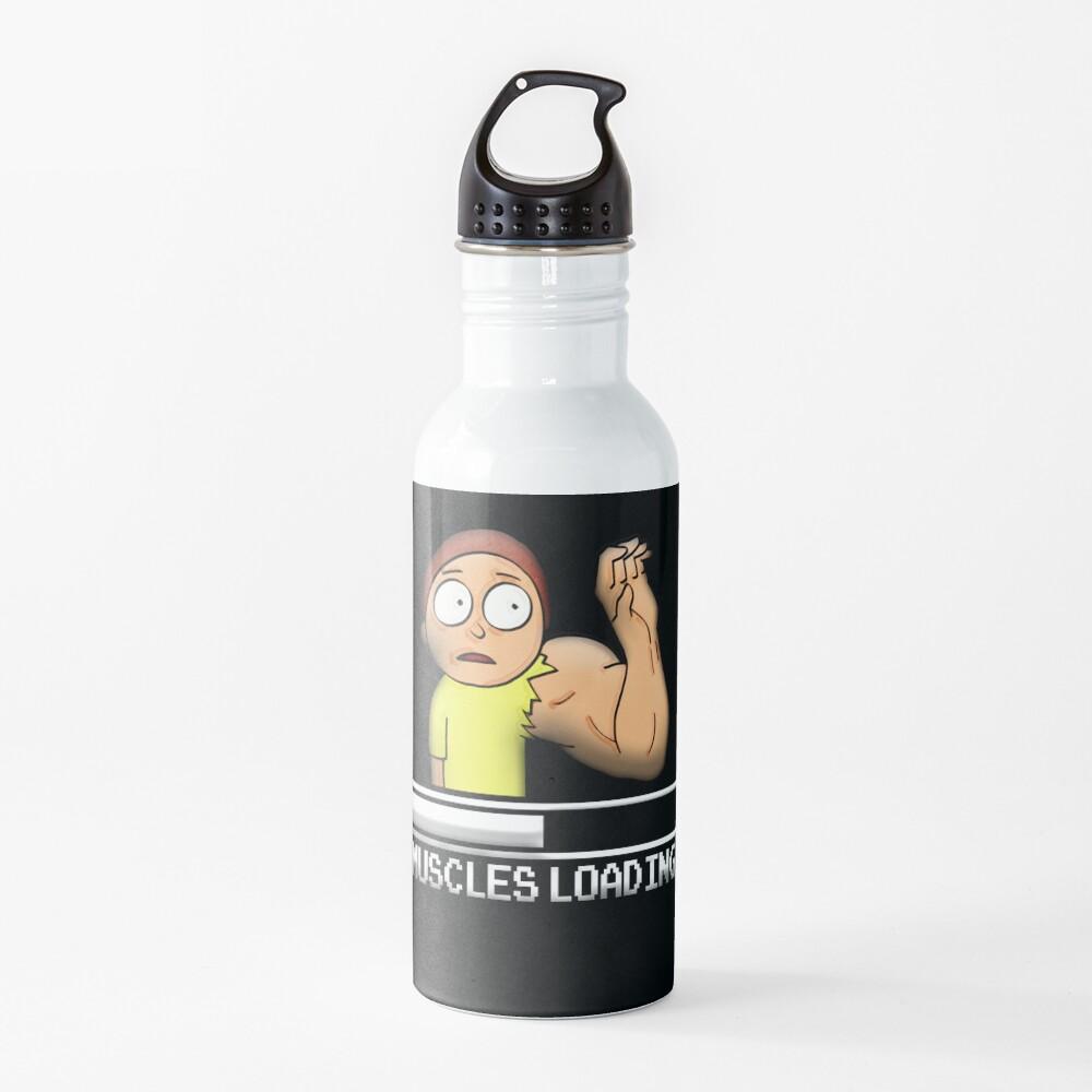 Muscles Loading Morty Water Bottle