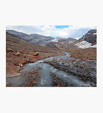 Melting glacier Photographic Print