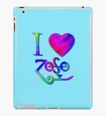 I Love ZoSo iPad Case/Skin