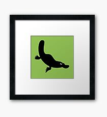 Angry Animals - Platypus Framed Print