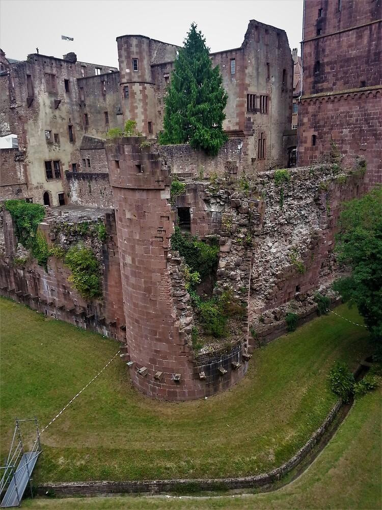 Schloss Heidelberg Ruined Tower by tomeoftrovius