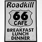 route 66 #1 Roadkill Cafe by David Lee Thompson