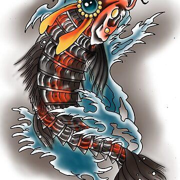 Samurai Koi by everchangingINK
