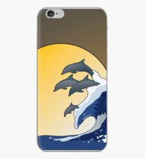 The Wave and Dolphins iPhone Case