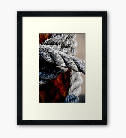 Tied together - for ever? Framed Print