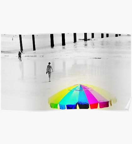 Hot Summer Day at the Beach Poster
