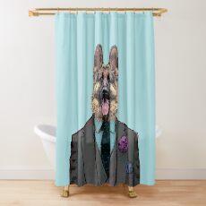 Alsatian Dog Three-piece suit Shower Curtain