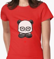 Geek Chic Panda Womens Fitted T-Shirt