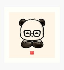 Geek Chic Panda Art Print