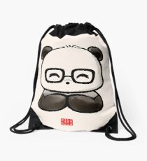 Geek Chic Panda Drawstring Bag
