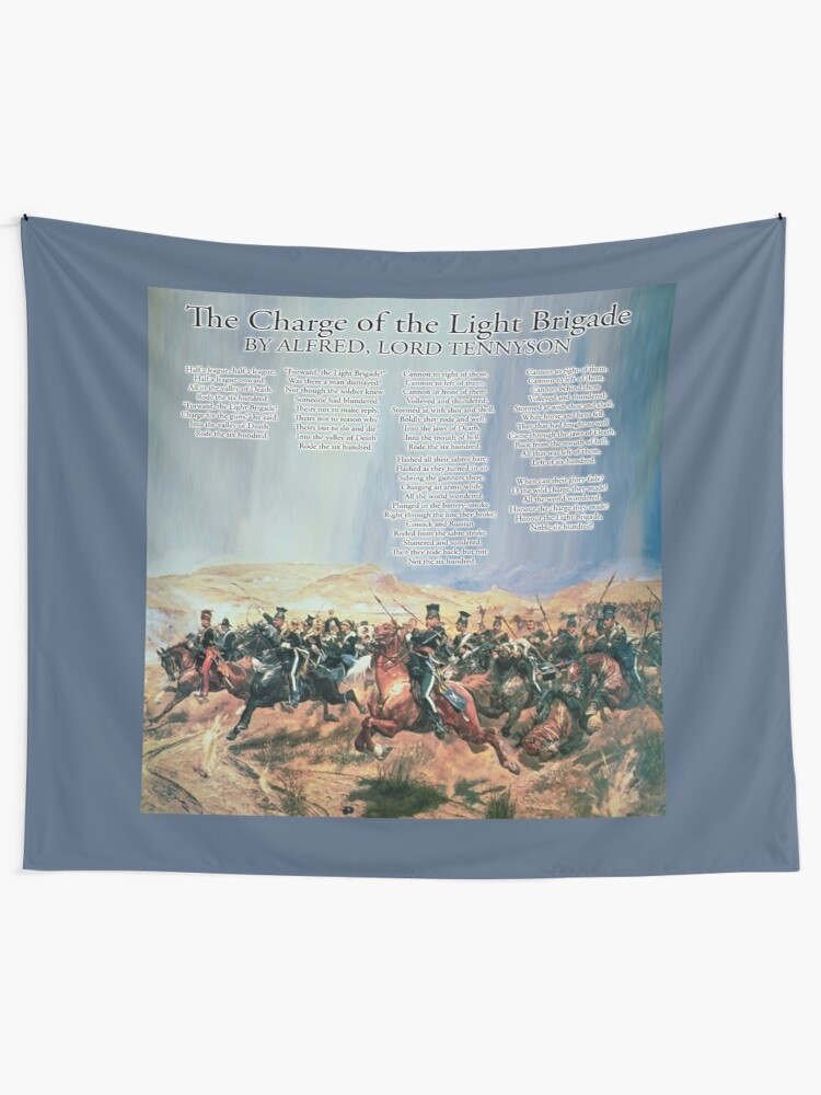 The Charge Of The Light Brigade Poem Wall Tapestry