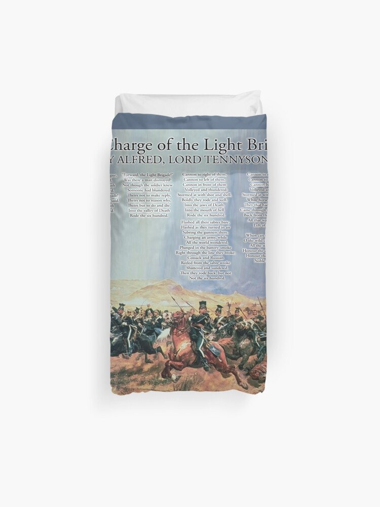 The Charge Of The Light Brigade Poem Duvet Cover